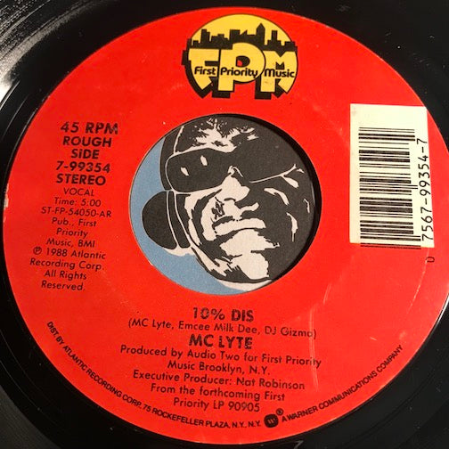 MC Lyte - 10% Dis b/w Kickin 4 Brooklyn - First Priority Music #99354 - Rap