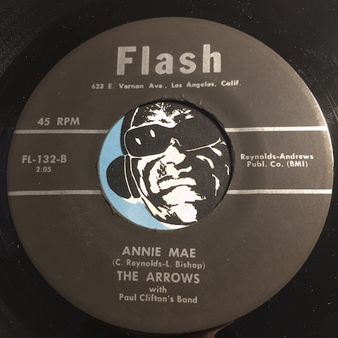 Arrows - Annie Mae b/w Indian Bop Hop - Flash #132 - Doowop Reissues - FREE (one per customer please)