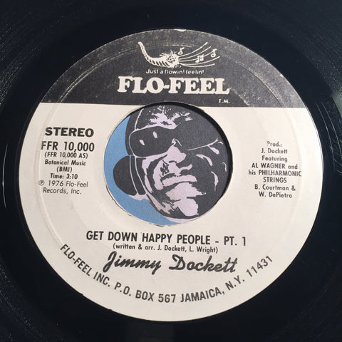 Jimmy Dockett - Get Down Happy People pt.1 b/w pt.2 - Flo-Feel #10000 - Funk Disco