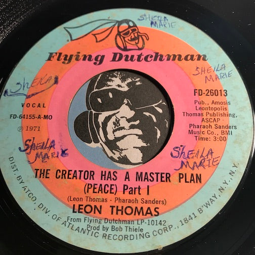 Leon Thomas - The Creator Has A Master Plan (peace) pt.1 b/w pt.2 - Flying Dutchman #26013 - Jazz Funk