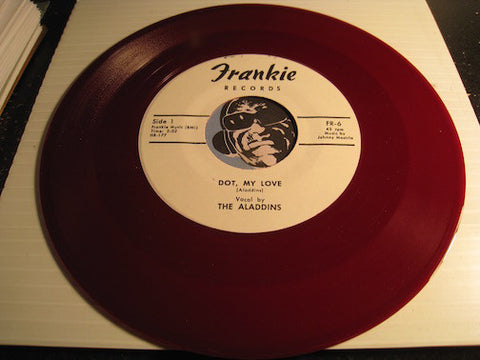 Aladdins - Dot My Love b/w My Charlene - Frankie #6 - red vinyl - Doowop