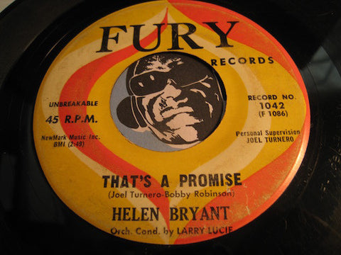 Helen Bryant - That's A Promise b/w I've Learned My Lesson - Fury #1042 - R&B Soul