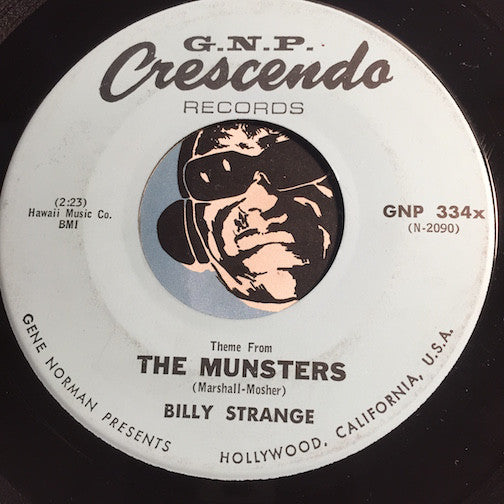 Billy Strange - Theme From The Munsters b/w Goldfinger - GNP Crescendo #334 - Rock n Roll