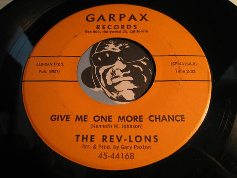 Rev-Lons - Give Me One More Chance b/w Boy Trouble - Garpax #44168 - Girl Group - Northern Soul - Doowop