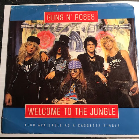 Guns N Roses - Welcome To The Jungle b/w Mr. Brownstone - Geffen #27759 - Rock n Roll - 80's