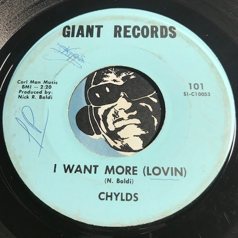Chylds - Hay Girl b/w I Want More (Lovin) - Giant #101 - Garage Rock