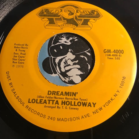 Loleatta Holloway - Dreamin b/w Worn Out Broken Heart - Gold Mind #4000 - Modern Soul - Funk Disco