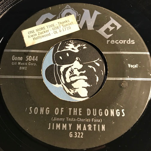 Jimmy Martin - Song Of The Dugongs b/w Jack Cobb - Gone #5044 - Country - Popcorn Soul