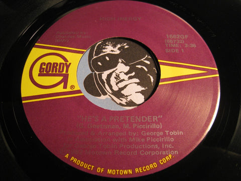 High Inergy - Don't Let Up On The Groove b/w He's A Pretender - Gordy #1662 - Funk Disco