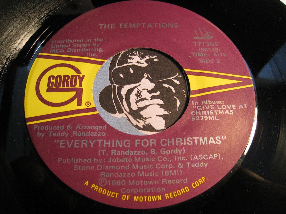 Temptations - Everything For Christmas b/w Silent Night - Gordy #1713 - Motown