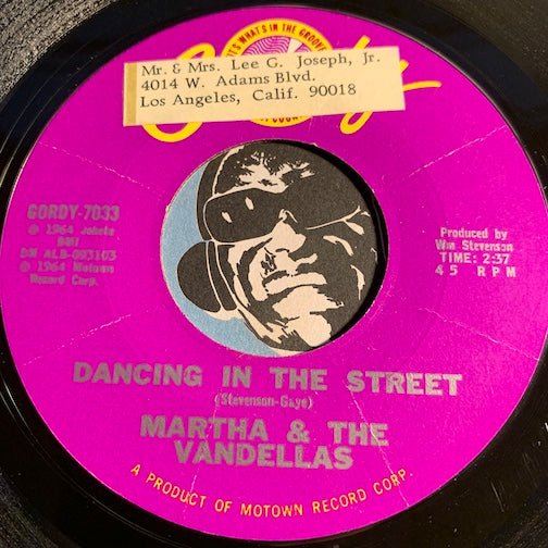 Martha & Vandellas - Dancing In The Street b/w There He Is (At My Door) - Gordy #7033 - Northern Soul - Motown