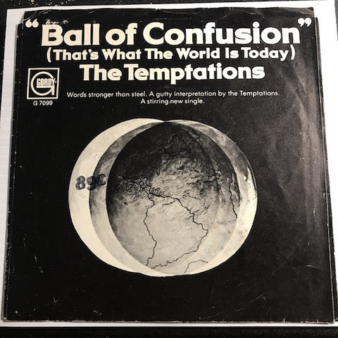 Temptations - Ball Of Confusion (That's What The World Is Today) b/w It's Summer - Gordy #7099 - Motown - Funk - Soul