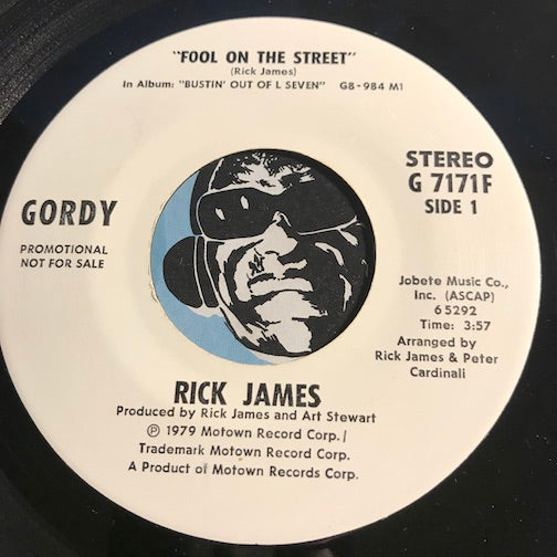 Rick James - Fool On The Street b/w Jefferson Ball - Gordy #7171 - Funk - Motown