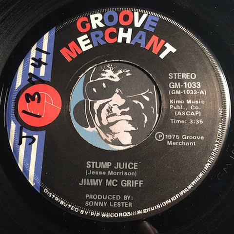 Jimmy McGriff - Stump Juice b/w The Worm Turns - Groove Merchant #1033 - Jazz Funk