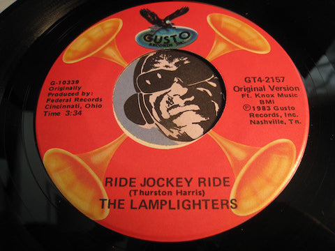 Lamplighters / Lucky Millinder - Ride Jockey Ride (Lamplighters) b/w The Grape Vine (Lucky Millinder) - Gusto #2157 - Doowop - Blues