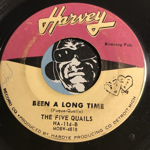Five Quails - Been A Long Time b/w Get To School On Time - Harvey #114 - R&B Soul - Motown