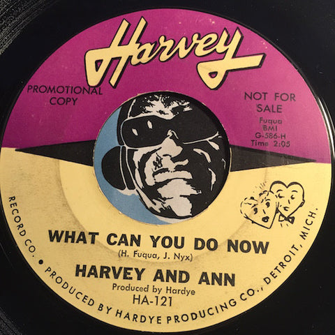 Harvey & Ann - What Can You Do Now b/w Will I Do - Harvey #121 - Motown - R&B