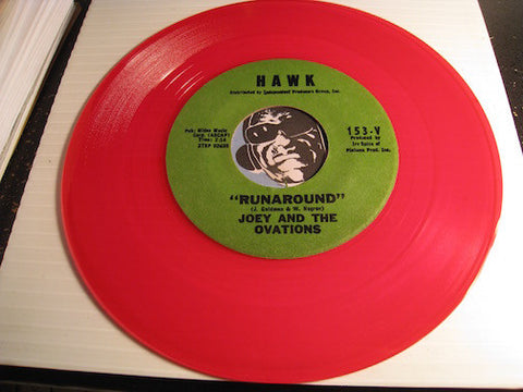 Joey & Ovations - Runaround b/w I Still Love You - Hawk #153 - red vinyl - Doowop