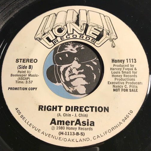 AmerAsia - Dragon Lady b/w Right Direction - Honey #1113 - Funk Disco