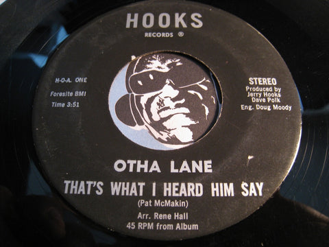 Otha Lane - Lord Help Me To Be Strong b/w That's What I Heard Him Say - Hooks #1 - Gospel Soul