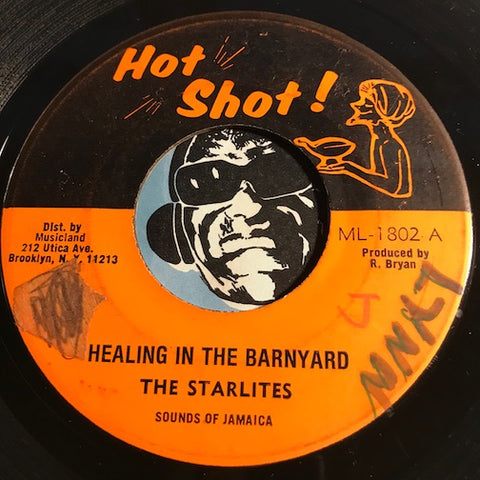 Starlites / Skin Flesh & Bones - Healing In The Barnyard b/w Barnyard Skank - Hot Shot #1803 - Reggae