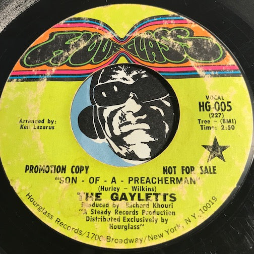 Gayletts - Son Of A Preacherman b/w That's How Strong My Love Is - Hourglass #005 - Reggae