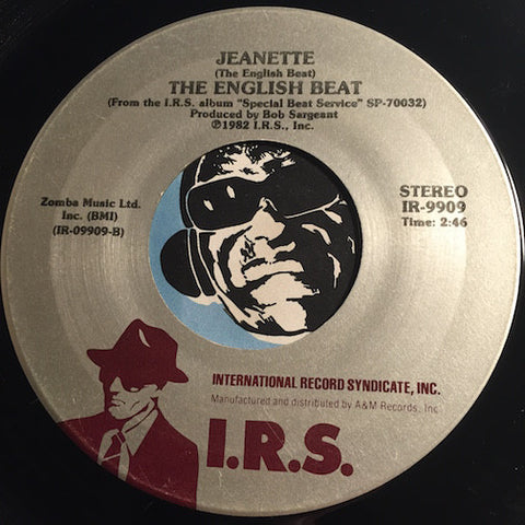 English Beat - Jeanette b/w Save It For Later - I.R.S. #9909 - 80's