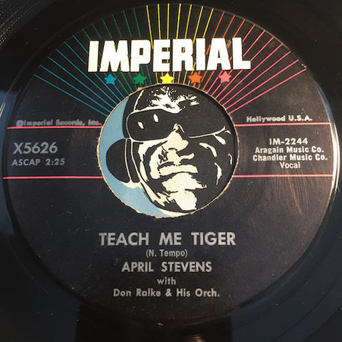 April Stevens - Teach Me Tiger b/w That Warm Afternoon - Imperial #5626 - Jazz