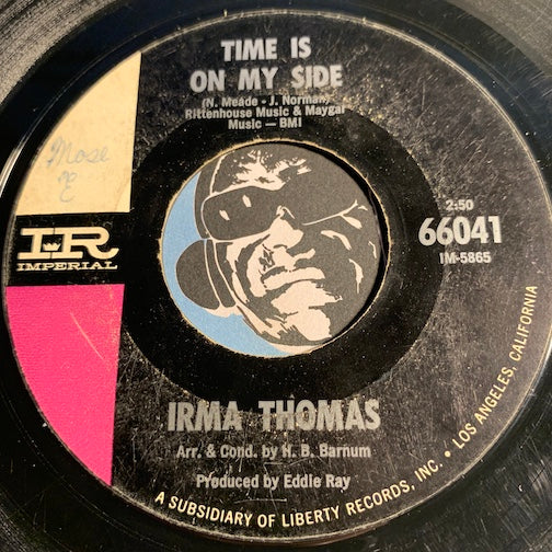 Irma Thomas - Time Is On My Side b/w Anyone Who Knows What Love Is - Imperial #66041 - Soul