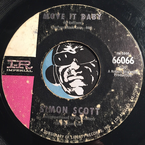 Simon Scott - Move It Baby b/w What Kind Of Woman - Imperial #66066 - Garage Rock