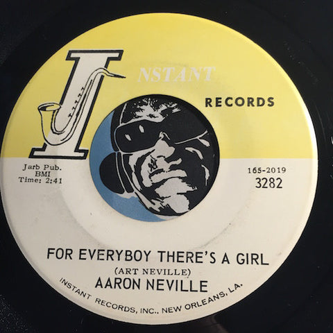 Aaron Neville - For Every Boy There's A Girl b/w I've Done It Again - Instant #3282 - R&B Soul