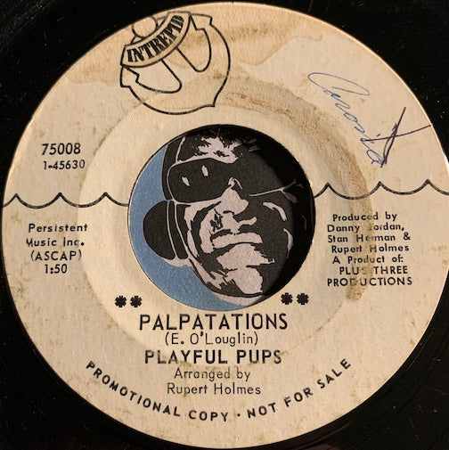 Playful Pups - Palpatations b/w Dinasour - Intrepid #75008 - Rock n Roll
