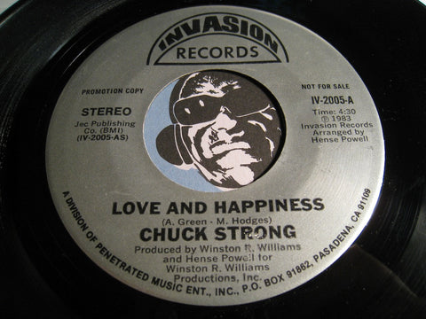 Chuck Strong - Love and Happiness b/w same - Invasion #2005 - Modern Soul - Funk
