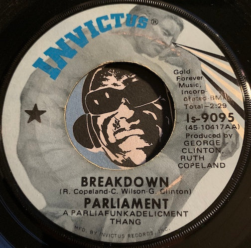 Parliament - Breakdown b/w Little Ole Country Boy - Invictus #9095