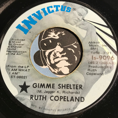 Ruth Copeland - Gimme Shelter b/w No Commitment - Invictus #9096 - Funk - Soul - Psych Rock