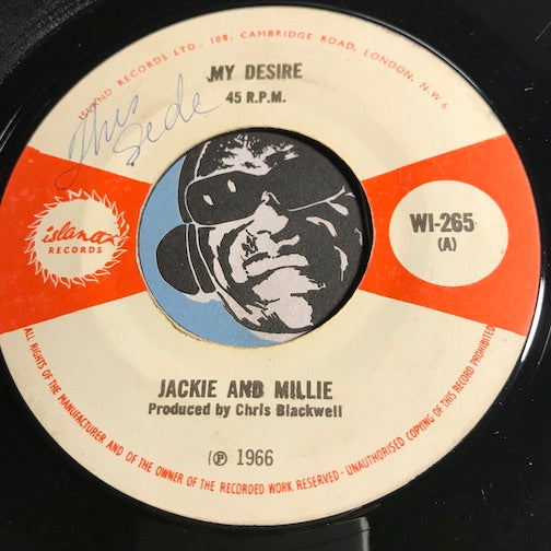 Jackie And Millie - My Desire b/w That's How Strong My Love Is - Island #265 - Soul