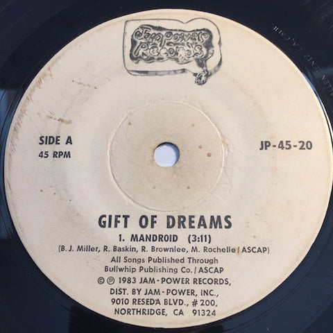 Gift Of Dreams - Mandroid b/w I Found A Lover - Jam Power #20 - Modern Soul