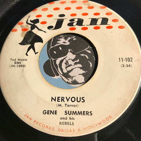 Gene Summers - Nervous b/w Gotta Lotta That - Jan #11-102 - Rockabilly