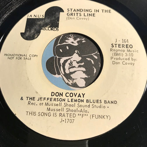 Don Covay - Standing In The Grits Line b/w Sweet Thang - Janus #164 - Funk