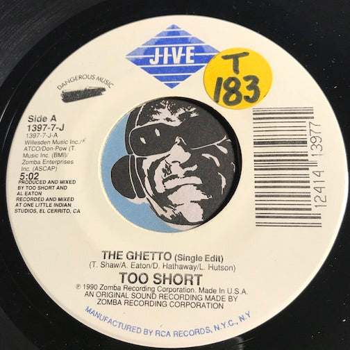 Too Short - The Ghetto b/w What Rap - Jive #1397 - Rap