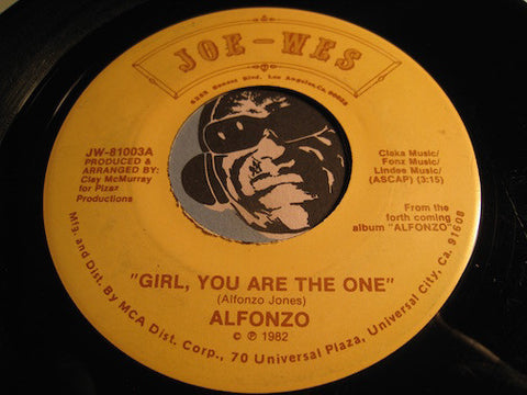 Alfonzo - Girl You Are The One b/w Lowdown - Joe-Wes #81003 - Funk Disco - Modern Soul