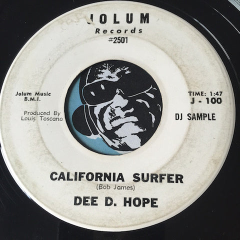Dee D. Hope – California Surfer b/w A Boy Of My Own - Jolum #100 - Surf - Teen