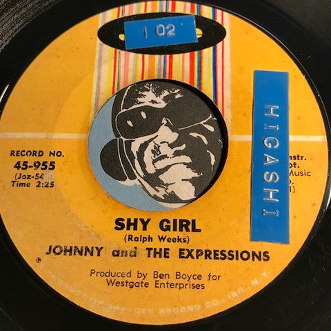 Johnny & Expressions - Shy Girl b/w Now That You're Mine - Josie #955 - Northern Soul - Sweet Soul