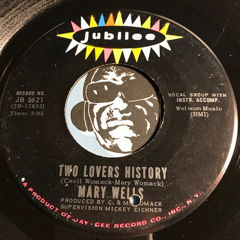 Mary Wells - Two Lovers History b/w The Doctor - Jubilee #5621 - Northern Soul - Soul