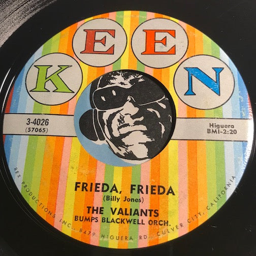 Valiants – Frieda Frieda b/w Please Wait My Love – Keen #4026 - R&B Rocker - Doowop