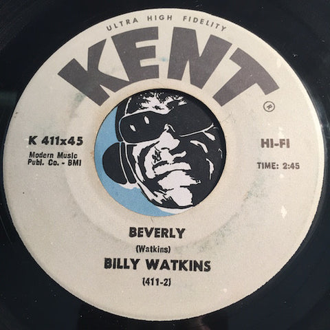 Billy Watkins - Beverly b/w Just For You (Stone Fox) - Kent #411 - Doowop - R&B