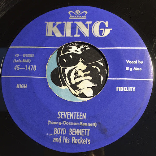 Boyd Bennett & Rockets - Seventeen b/w Little Ole You All - King #1470 - Rockabilly