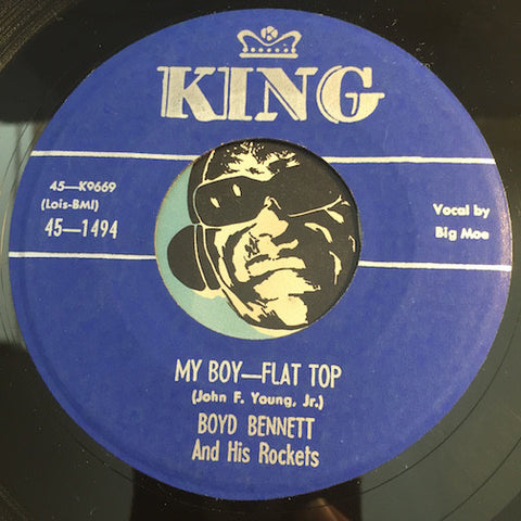Boyd Bennett & Rockets - My Boy Flat Top b/w Banjo Rock and Roll - King #1494 - Rockabilly