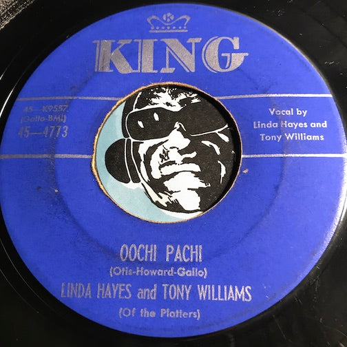 Linda Hayes & Tony Williams & Platters - Oochie Pachi b/w Please Have Mercy - King #4773 - Doowop - R&B Rocker