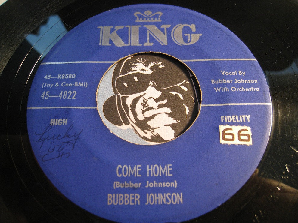 Bubber Johnson - Come Home b/w There'll Be No One - King #4822 - Doowop